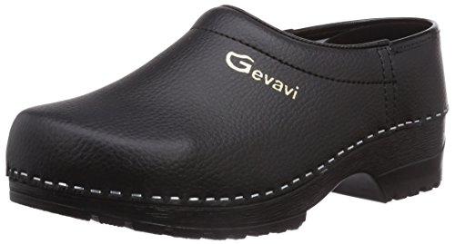 Gevavi Unisex-Erwachsene JENS PU SCHOENKL. DICHT ZW. 45 Clogs, Schwarz (Schwarz(Zwart) 00), EU