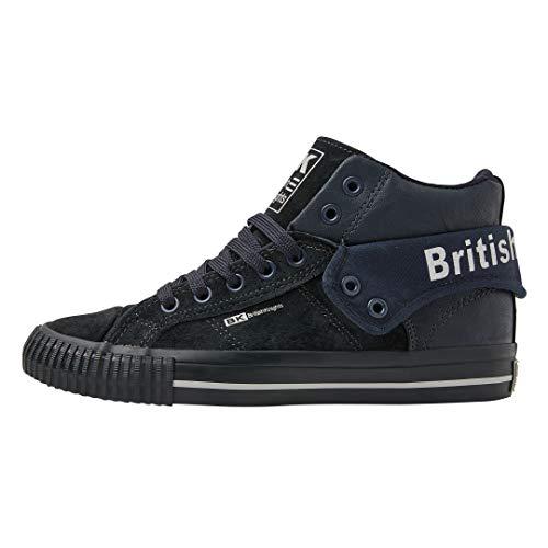 British Knights ROCO Damen HIGH-Top-Schuh Sneaker-37 EU-Dunkelblau/Dunkelblau