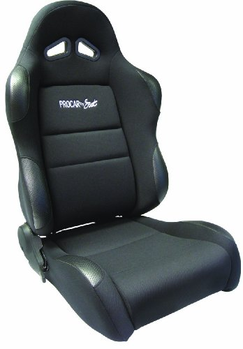 Scat ProCar 80-1605-61L Sportsman Black Vinyl/Velour Left Racing Seat