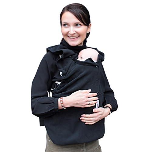Manduca 199-71-13-000 - Copertina per marsupio/zainetto portabebè Babywearing dickey, Taglia Unica, colore: Nero