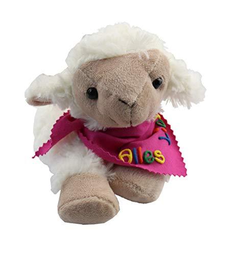 Wärmekissen Wärmetier Schaf mit Halstuch und Namen oder Spruch - Personalisiertes Baby Körnerkissen Rapskissen - Körnerkissen Rapskissen