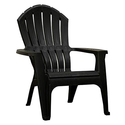 RealComfort 8371-02-3700 Adirondack Chair, Ergonomic, Black - Quantity 1