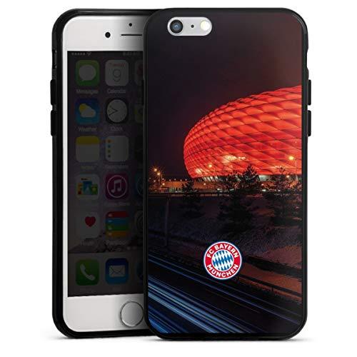 DeinDesign Silikon Hülle kompatibel mit Apple iPhone 6s Case schwarz Handyhülle FCB Stadion FC Bayern München