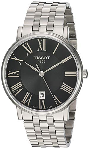Tissot Unisex Carson Swiss Quartz Stainless Steel Dress Watch (Model: T1224101105300)