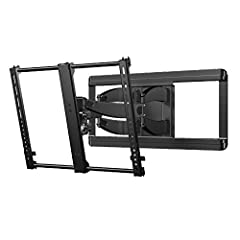 """Easily adjust your TV without tools. Leveling adjustments allow TV to be perfectly positioned after hanging. Perfect for mounting your TV in a corner. TV """"clicks"""" into place for a safe connection you can hear. Enjoy a great picture no matter where yo..."""