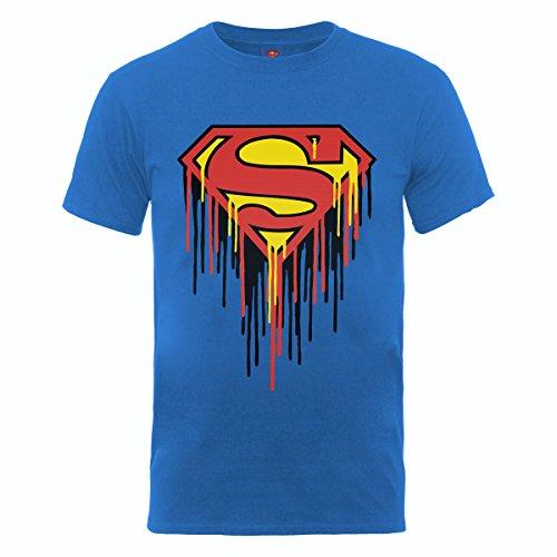 DC Comics Maglietta Maglia T Shirt Drip Logo Royal Blue Size M BIL