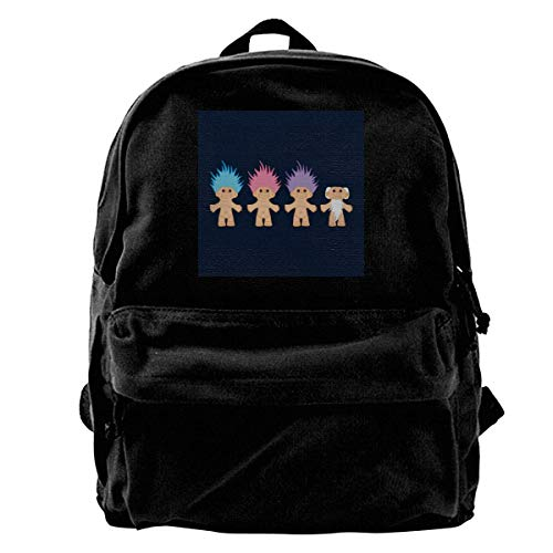 Schoolbag Lucky Trolls Mochila De Lona Anime School Student Print Bolso Universitario Bolso De Hombro Cumpleaños Único Libro Duradero Portátil Regalo Viaje Mochila para Adultos