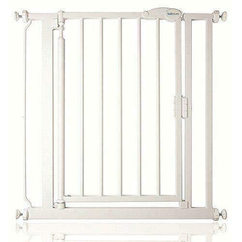 Safetots, cancelletto a pressione, chiusura automatica, 68,5–75cm, bianco, stretto