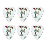 Lettera F floreale monogramma novità iniziale plettri per chitarra calibro medio-set di 1...