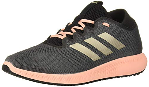 adidas Women's Edge Flex Running Shoe, Grey/Cyber Metallic/Glow Pink, 6 M US