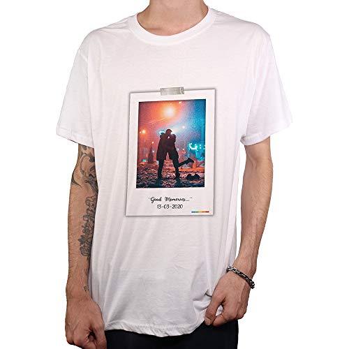 PROMO SHOP Camiseta Personalizada Hombre (Imagen y Texto) · Manga Corta/Talla XXL · 100% Algodón · Impresión Directa (DTG) · Estas Camisetas Personalizas ¡Se Imprimen Directamente sobre el Tejido!