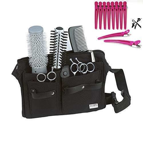 Friseur-Werkzeugtasche PRACTICAL m. Gurt - Gürteltasche Friseurtasche - Holster + FP Clips