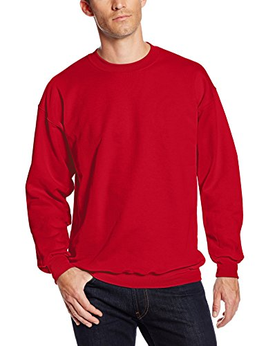 Hanes Men's Ultimate Heavyweight Fleece Sweatshirt, Deep Red, X-Large