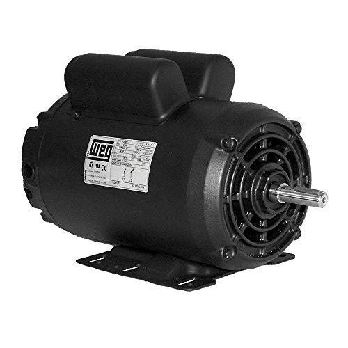 5 HP SPL Compressor Motor Electric 56 Frame Single Phase 3455 rpm, 5/8