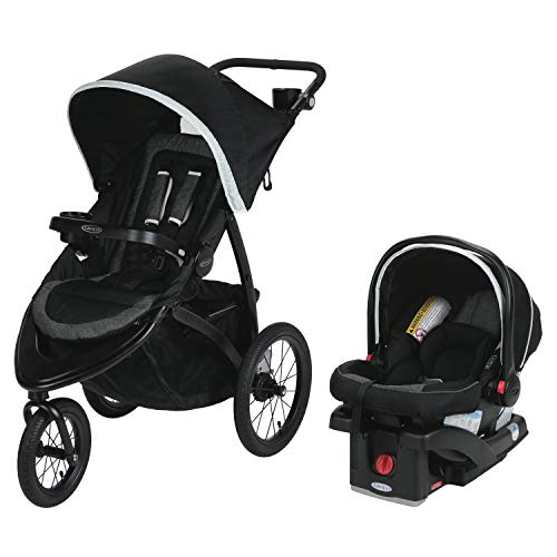 Graco Roadmaster Jogger Travel System | Includes Roadmaster Jogging Stroller and SnugRide SnugLock 30 Infant Car Seat, Drift