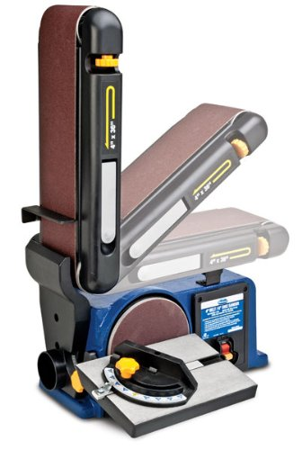 Eastwood 4 in. X 36 in. Belt with 6 in. Disc Sander 120 Degree Adjustable Miter Plate Fence Horizontal Or Vertical Sanding Surface Sturdy Cast Iron Base