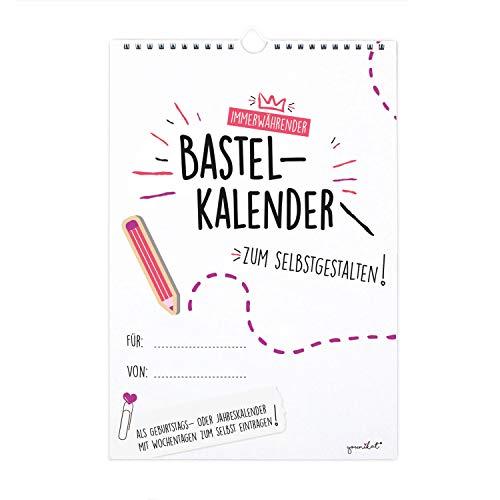 Bastelkalender undatiert zum Selbstgestalten I DIN A4 Format I Fotokalender Geburtstagskalender ohne Jahr I zum Basteln, Malen für Fotos DIY I dv_180