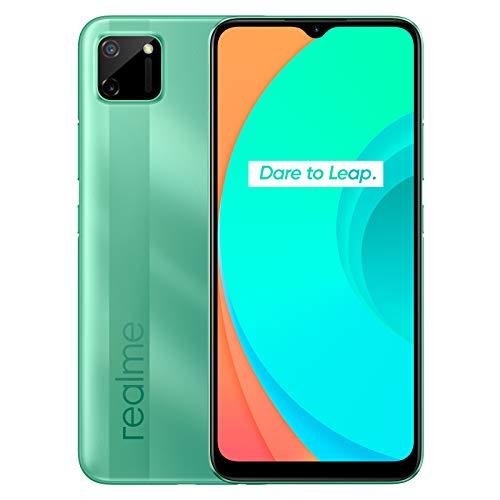 "Oferta de realme C11 - Smartphone de 6.52"", 2 GB de RAM + 32 GB de ROM, Procesador Gaming MediaTek Helio G35, Doble cámara de 15MP, Dual Sim, Mint Green"