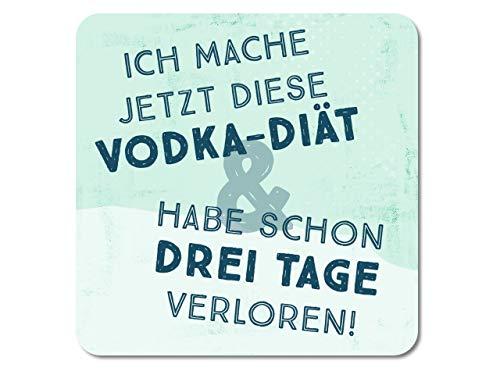 Interluxe LED Untersetzer - Ich Mache jetzt Diese Vodka Diät - lustiger leuchtender Getränkeuntersetzer mit Spruch