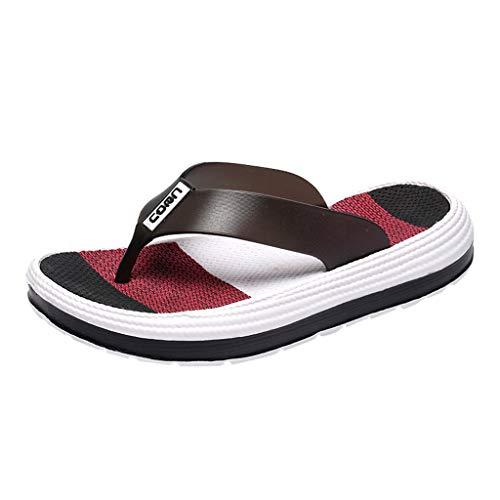 Mymyguoe Damen Hausschuhe Frauen Teenager Mädchen weich Sohle Zehentrenner Süßigkeiten Farbe Flip-Flops Bequeme Flache Heel Sandaletten Increased Plattform Slipper rutschfeste Freizeit Schuhe