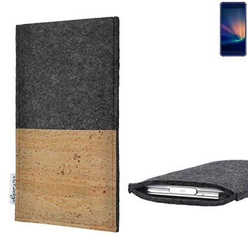 flat.design vegane Handy Hülle Evora für Hisense A2 Pro Kartenfach Kork Schutz Tasche handgemacht fair vegan