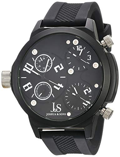 Joshua & Sons Herren-Armbanduhr Quartz Triple Time Analog Quarz JS-40-WT
