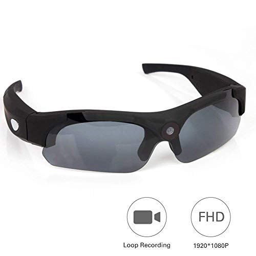 Oolifeng bril voor camera, 1080P HD mini spionagebril met camera DV camcorder digitale videorecorder voor sport in de vrije natuur