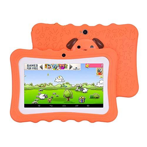 LNX Tableta Táctil para Niños de 7 Pulgadas, Sistema Android 4.4, WiFi, 1 GB de RAM + 8 GB de ROM, Cuatro nucleos, Memoria Ampliable, Pantalla de visualización HD, Cámaras duales