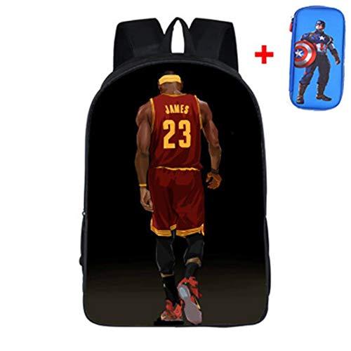 Student Schultasche,Basketball Superstar 24/23 Rucksack,Lakers/Warriors-Muster,Rucksack,Campus Schultaschen,Leichter Rucksack,Männlich 6-12 Jahre alt,C24,42 * 29 * 16CM