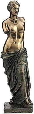 XoticBrands Decorative 11.02 Inch Venus De Milo Sculpture Statue Figurine, (H) 11, Bronze