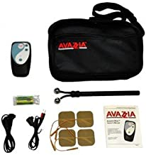 Avazzia Blue Microcurrent Handheld Pain Relief Y-Electrode Carrying Kit TENS