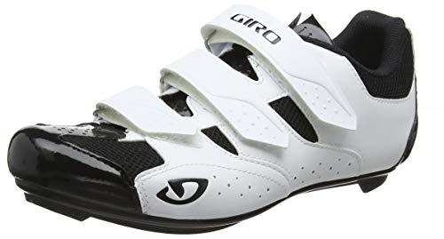 Giro Herren Techne Road Radsportschuhe - Rennrad, Mehrfarbig (White/Black 000), 41.5 EU