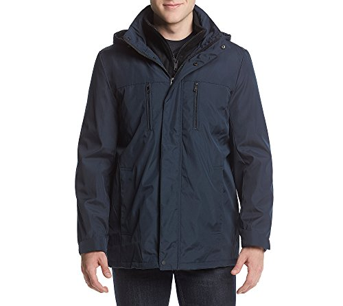 Reaction Kenneth Cole Men's Bonded Midweight Jacket Mightnight Medium