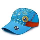 LZBDKM Baseball cap[AETRENDS] USA Sports Kids Baseball Cap for Children 7~12 Year Old Hat Trucker Mesh Cap Boy Girl Snapback Hiphop Z-6509Light Blue