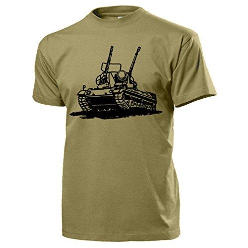 Gepard Panzer Flak Bundeswehr Flugabwehr FlakPz 1A2 Einheit - T Shirt #17691, Farbe:Sand, Größe:Herren L