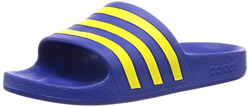 Adidas Unisex Erwachsene Adilette Aqua Dusch-& Badeschuhe, Blau (Team Royal Blue/Shock Yellow/Team Royal Blue), 44.5 EU