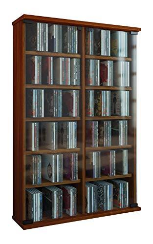 VCM 50401 Roma Torretta CD/DVD per 300 CD,Strisce di noce,92x60x18 cm