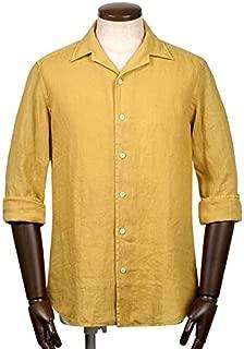 バグッタ BAGUTTA / 【国内正規品】 19SS!製品洗いリネンポプリンオープンカラーシャツ『JOHNNY』 (マスタード) メンズ