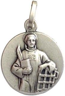 Medalla de San Lorenzo de Plata Maciza 925 - Las Medallas de Los Patronos