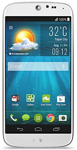 Acer Liquid Jade Plus Dual-SIM Smartphone (12,7 cm (5 Zoll) Zero-Air-Gap IPS HD-Display, 13 Megapixel Kamera, Quadcore Prozessor 1,3GHz, 16GB interner Speicher, Nano-SIM, Android 4.4. Kitkat ) weiß