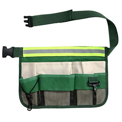 ACAMPTAR Bolsa de Herramientas de Limpieza de Jardín con Cinturón de Herramientas de Cubierta para Bolsa de Destornillador Portaherramientas de Cintura Duradera Amarillo Verde