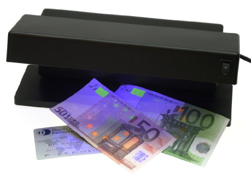 Genie MD 1784 Détecteur de faux billets de banque portatif avec 2 tubes d UV puissants - tubes fluorescents et ampoules