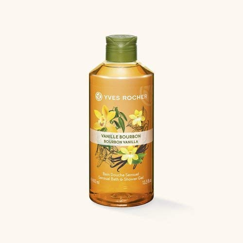 Yves Rocher LES PLAISIRS NATURE Duschbad Bourbon-Vanille, Aroma-Schaumbad & pflegendes Duschgel, 1 x Flacon 400 ml