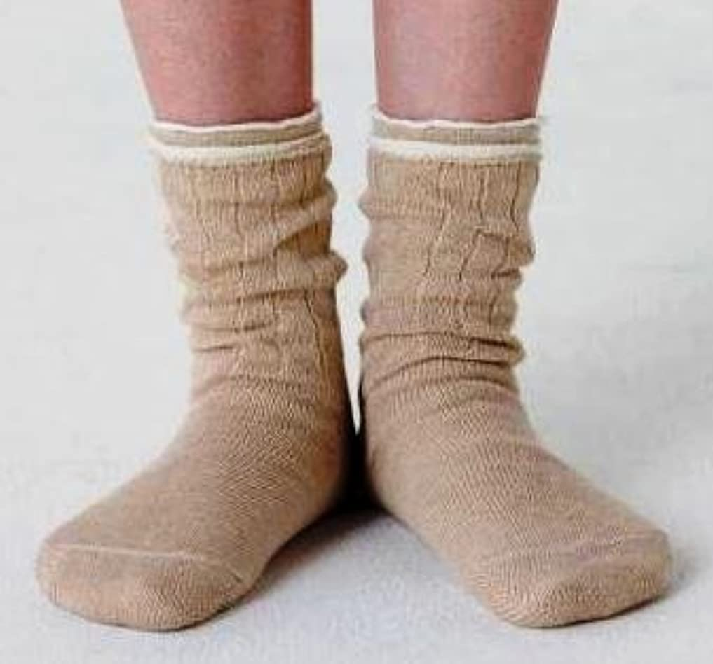 学校教育バンク遺産冷え取り靴下 4枚重ね履きソックス(絹?綿?絹?綿) Lサイズ:25~27cm