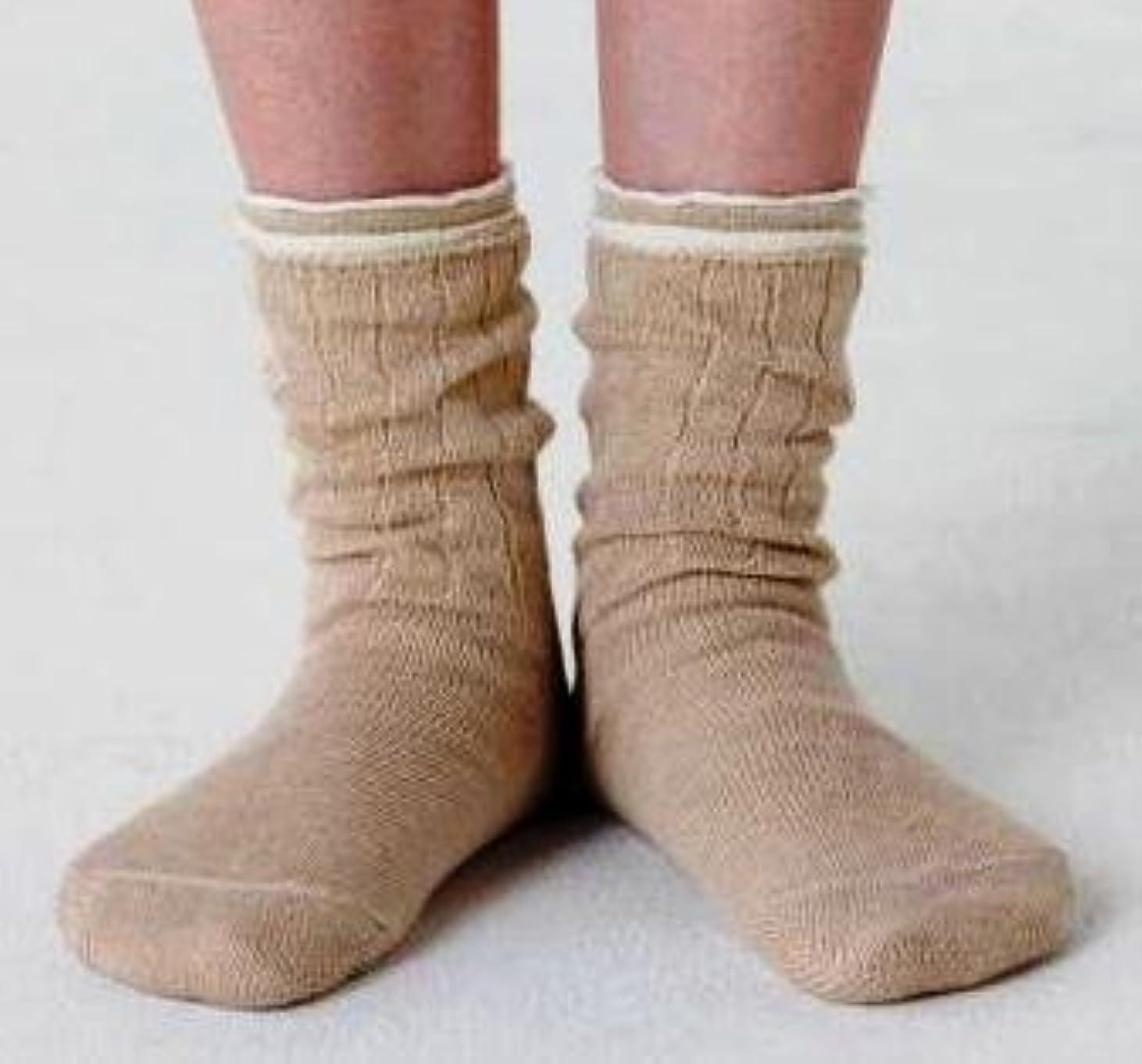 シャットロッド爪冷え取り靴下 4枚重ね履きソックス(絹?綿?絹?綿) Lサイズ:25~27cm