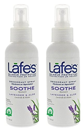 Lafe's | Soothe - Lavender & Aloe - Aluminum Free Natural Deodorant Spray for Women & Men | Vegan, Cruelty Free, Gluten Free, Paraben Free & Baking Soda Free with 24-Hour Protection; 2 Pack (4oz)