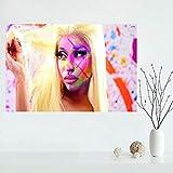 QAQTAT Nicki Minaj Musik Sänger Star Poster Leinwand