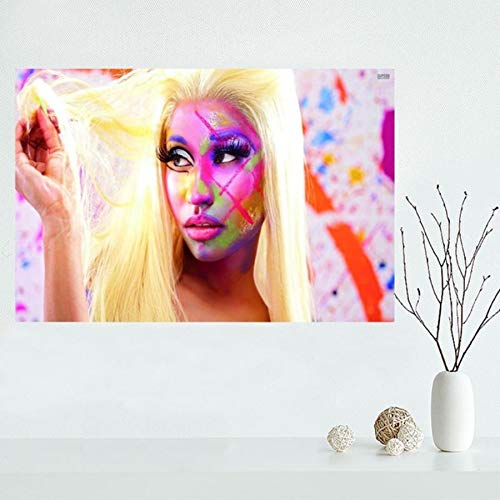 QAQTAT Nicki Minaj Musik Sänger Star Poster Leinwand Malerei HD-Druck Wandkunst Bilder Büro Bar Wandbild Home Decor 40 * 60cm (kein Rahmen)