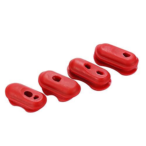 KUNSE 4 stks Plastic Mouw Rode Draadbescherming voor xiaomi Mijia Elektrische Scooter Reparatie Onderdelen Accessoires