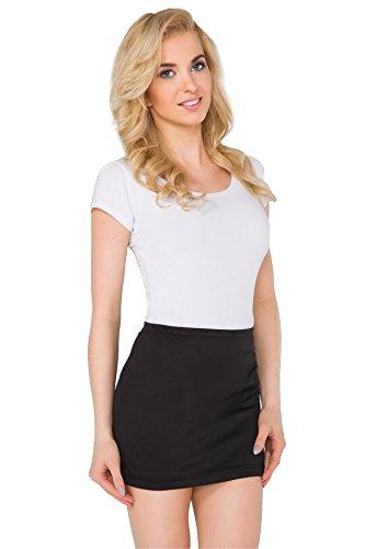 FUTURO FASHION® - Damen Minirock - elastisches Material - körperbetont - ideal für den Sommer - auch in Übergrößen - Größe 36-50 - PA11 - Schwarz - 42 (XL)
